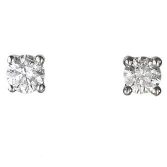 18ct White Gold 0.25ct Diamond H-I P1 Earrings - Product number 2541637