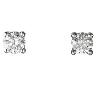 18ct White Gold 0.25ct Diamond F-G  Vs2 Earrings - Product number 2541661