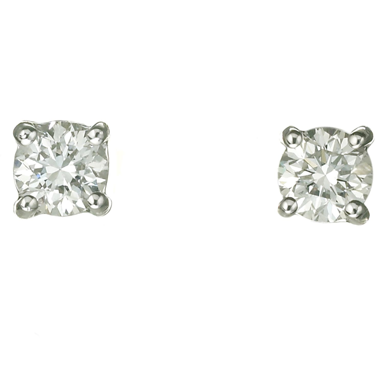 18ct White Gold Forty Point Diamond H-I Si2  Earrings - Product number 2541696