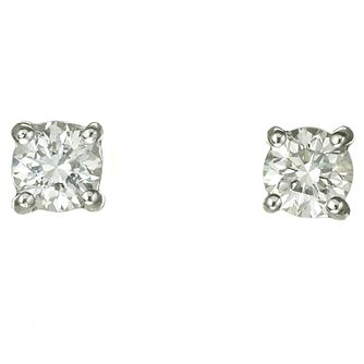 18ct White Gold Forty Point Diamond G-H  Si1 Earrings - Product number 2541718