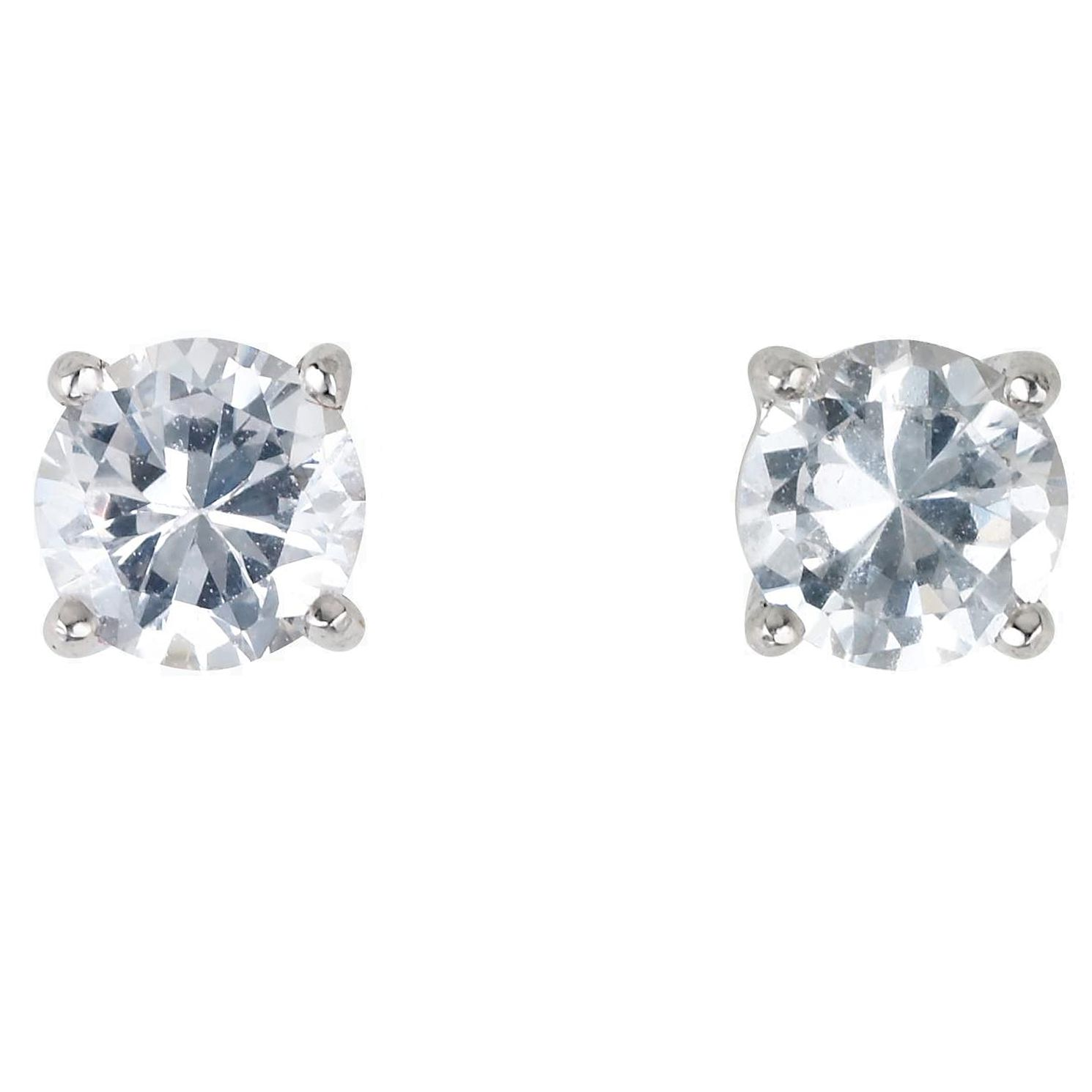18ct White Gold 0.66ct Diamond H-I SI2 Solitaire Earrings - Product number 2541785