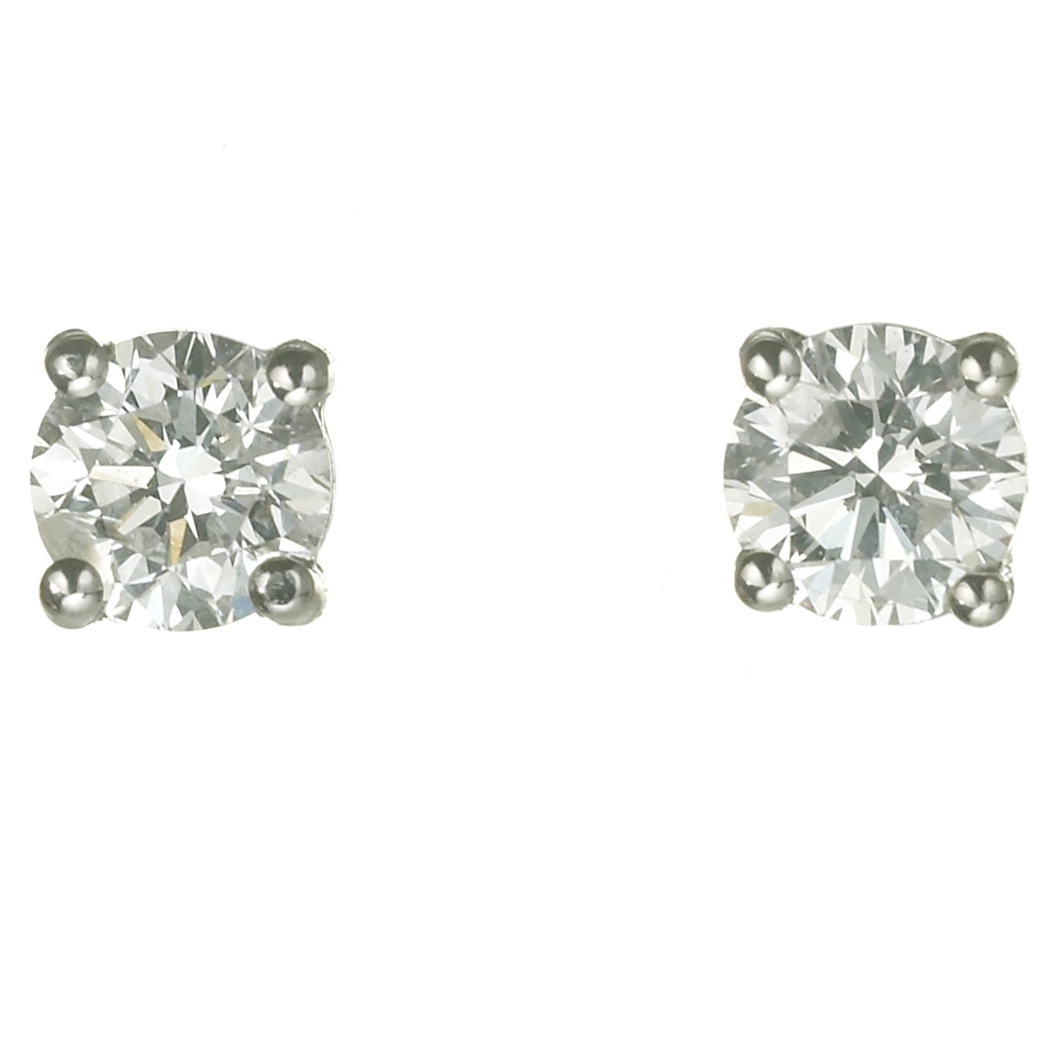18ct White Gold 0.75ct Diamond G-H Si1 Stud Earrings - Product number 2541823