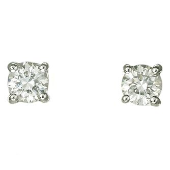 Platinum 40 Point Diamond H-1 Si2 Stud Earrings - Product number 2541882