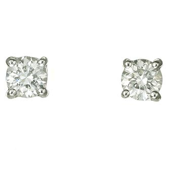 Platinum 40 Point Diamond F-G Vs2 Stud Earrings - Product number 2541920