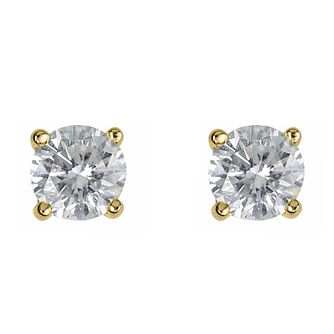 18ct Yellow Gold 0.50ct Diamond F-G VS2 Solitaire Earrings - Product number 2542129