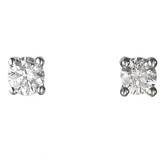 Platinum 0.25ct Diamond F-G Vs2 Solitaire Earrings - Product number 2542307