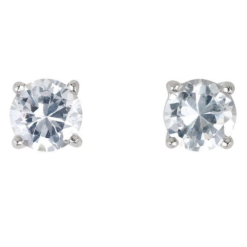 Platinum ¾ carat Diamond Stud G-H SI1 Earrings - Product number 2542412