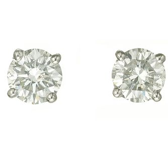 Platinum One Carat Diamond G-H Si1 Stud Earrings - Product number 2542455
