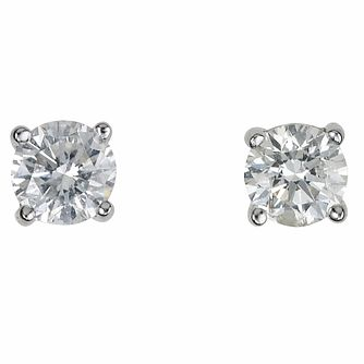 Platinum 0.50ct diamond F-G VS2 earrings - Product number 2542501