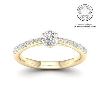 18ct Yellow Gold & Platinum 1/2ct Diamond Solitaire Ring - Product number 2545055