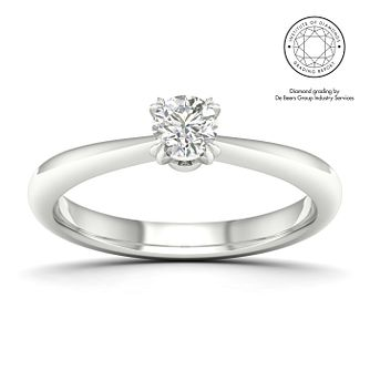 18ct White Gold & Platinum 3/10ct Diamond Solitaire Ring - Product number 2545993