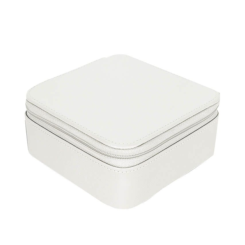 Carters Square Chalk White Zip Up Travel Jewellery Box - Product number 2546825