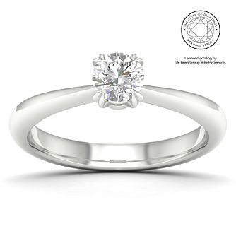 18ct White Gold & Platinum 2/5ct Diamond Solitaire Ring - Product number 2546922