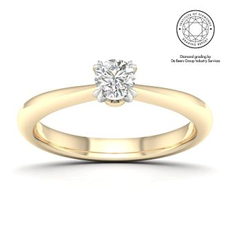 18ct Yellow Gold & Platinum 3/10ct Diamond Solitaire Ring - Product number 2547198