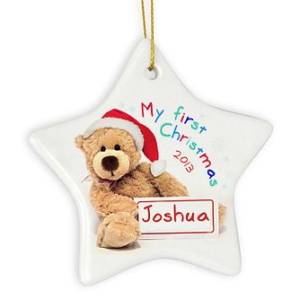 My First Christmas Teddy Ceramic Star Decoration - Product number 2547805