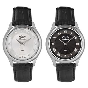 Rotary Ladies' Revelation Reversible Dial Leather Watch - Product number 2549239
