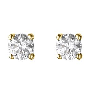 18ct yellow gold 0.25ct diamond H-J I2 earrings - Product number 2549670