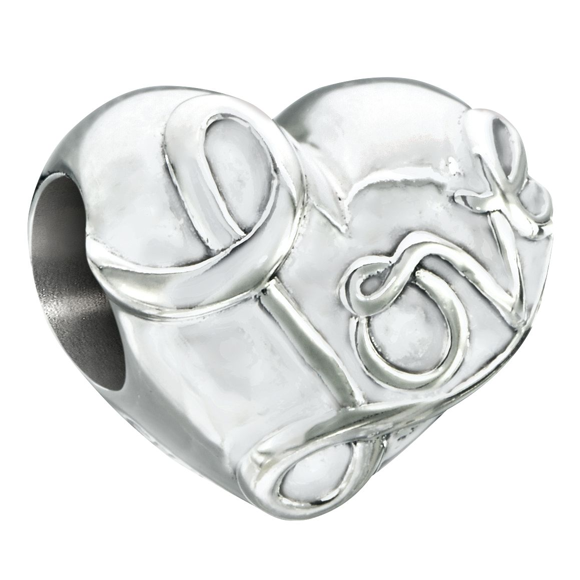 Chamilia Silver & Siam Swarovski Crystal Electric Love Charm - Product number 2551160