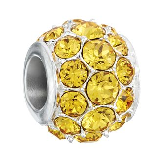 Chamilia Silver & Yellow Swarovski Crystal Splendor Charm - Product number 2551462