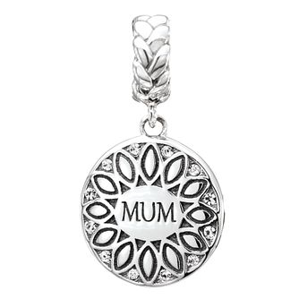 Chamilia Silver & Swarovski Crystal Mum Sunflower Charm - Product number 2551519