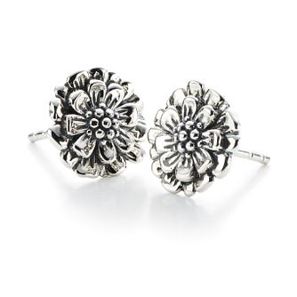 Chamilia Sterling Silver Floral Zinnia Stud Earrings - Product number 2551659