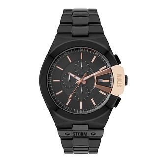STORM Men's Vexitron Black & Rose Gold Tone Bracelet Watch - Product number 2552728