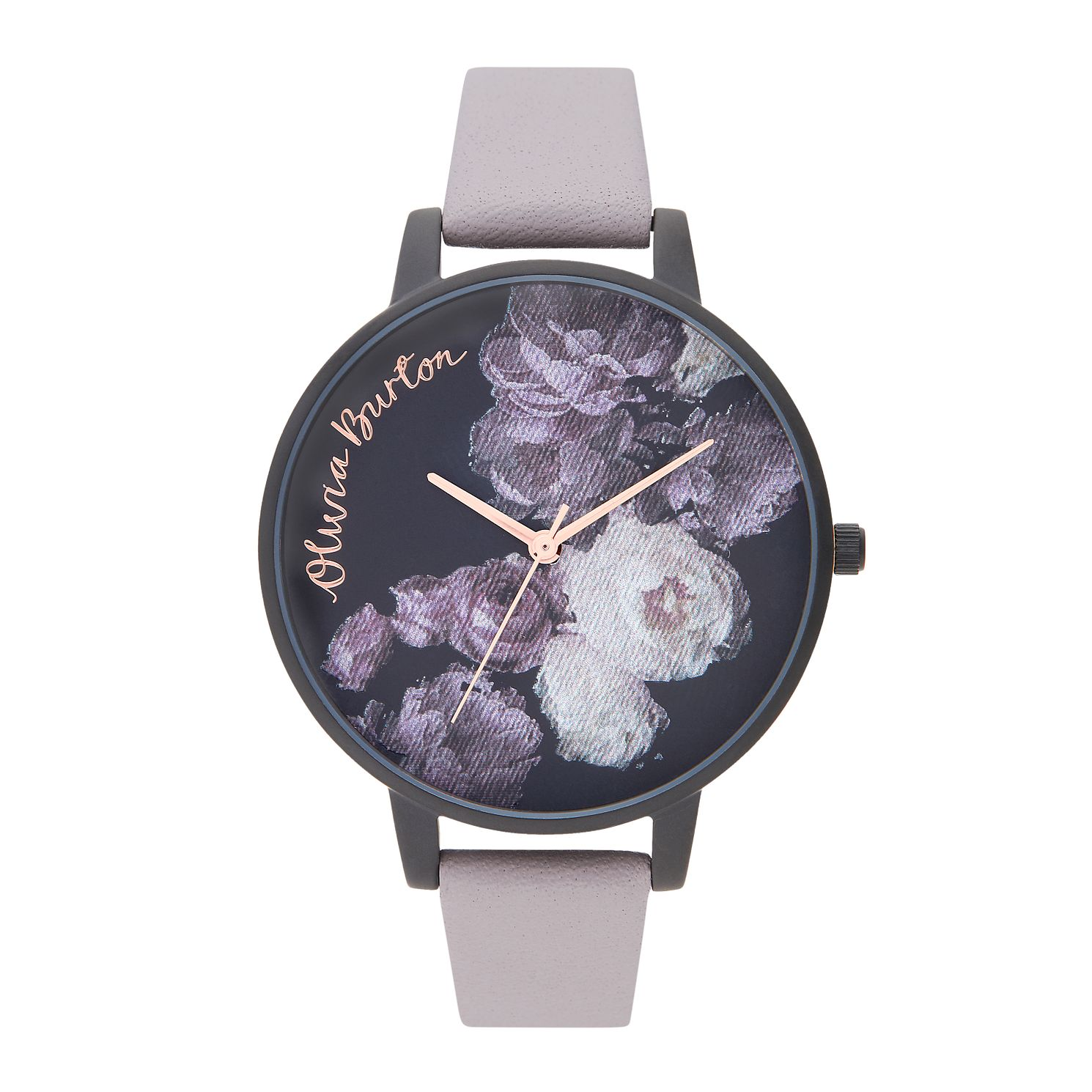 Olivia Burton Fine Art Ladies' Lilac Leather Strap Watch - Product number 2581612