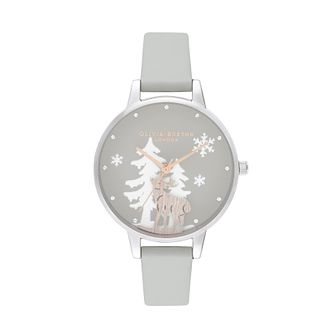 Olivia Burton Winter Wonderland Grey Vegan Strap Watch - Product number 2581620