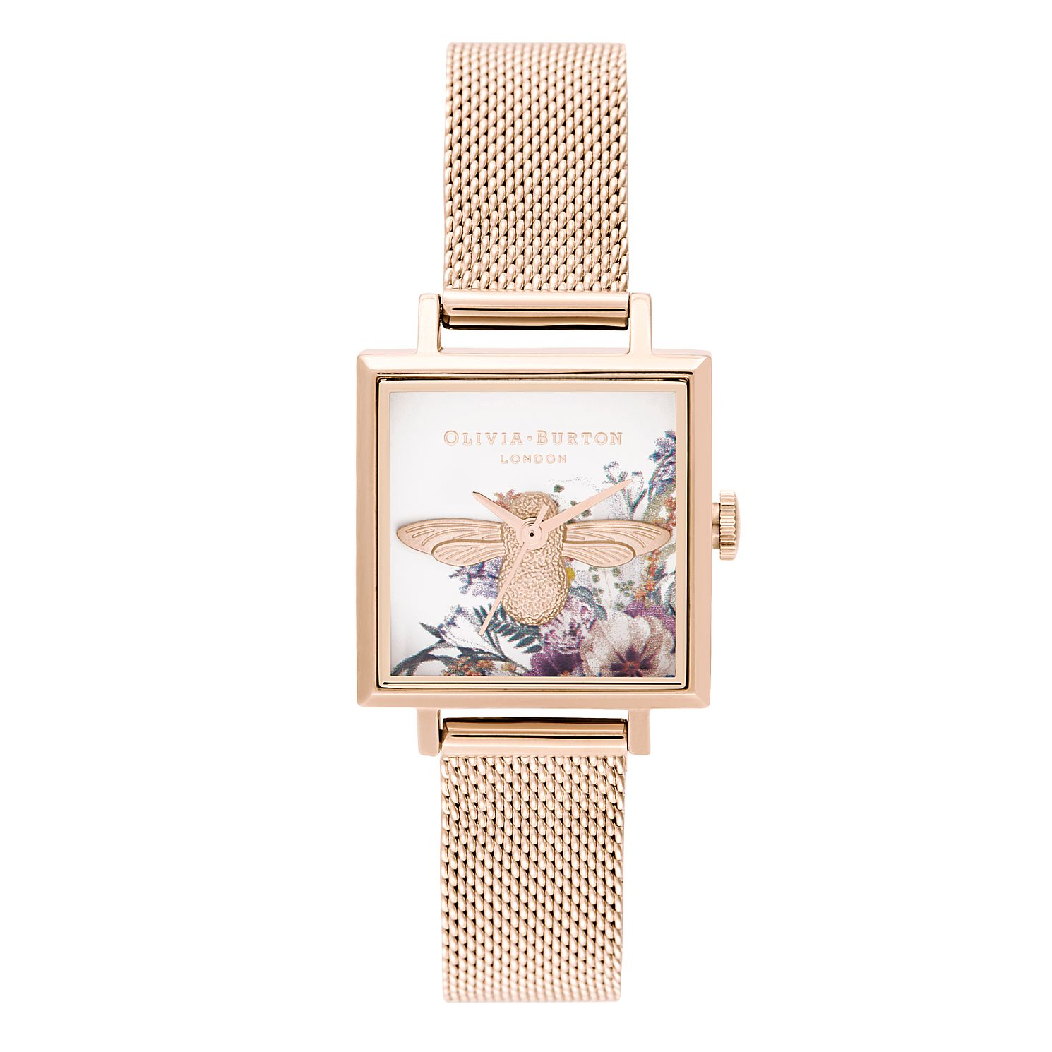 Olivia Burton Enchanted Garden Rose Gold Tone Bracelet Watch - Product number 2581655