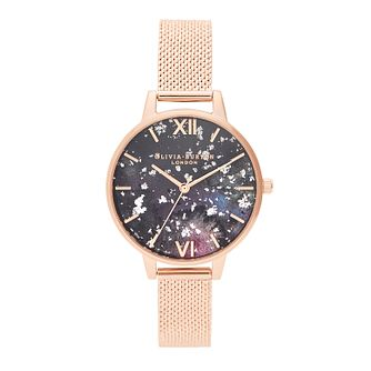 Olivia Burton Celestial Rose Gold Tone Mesh Bracelet Watch - Product number 2581698