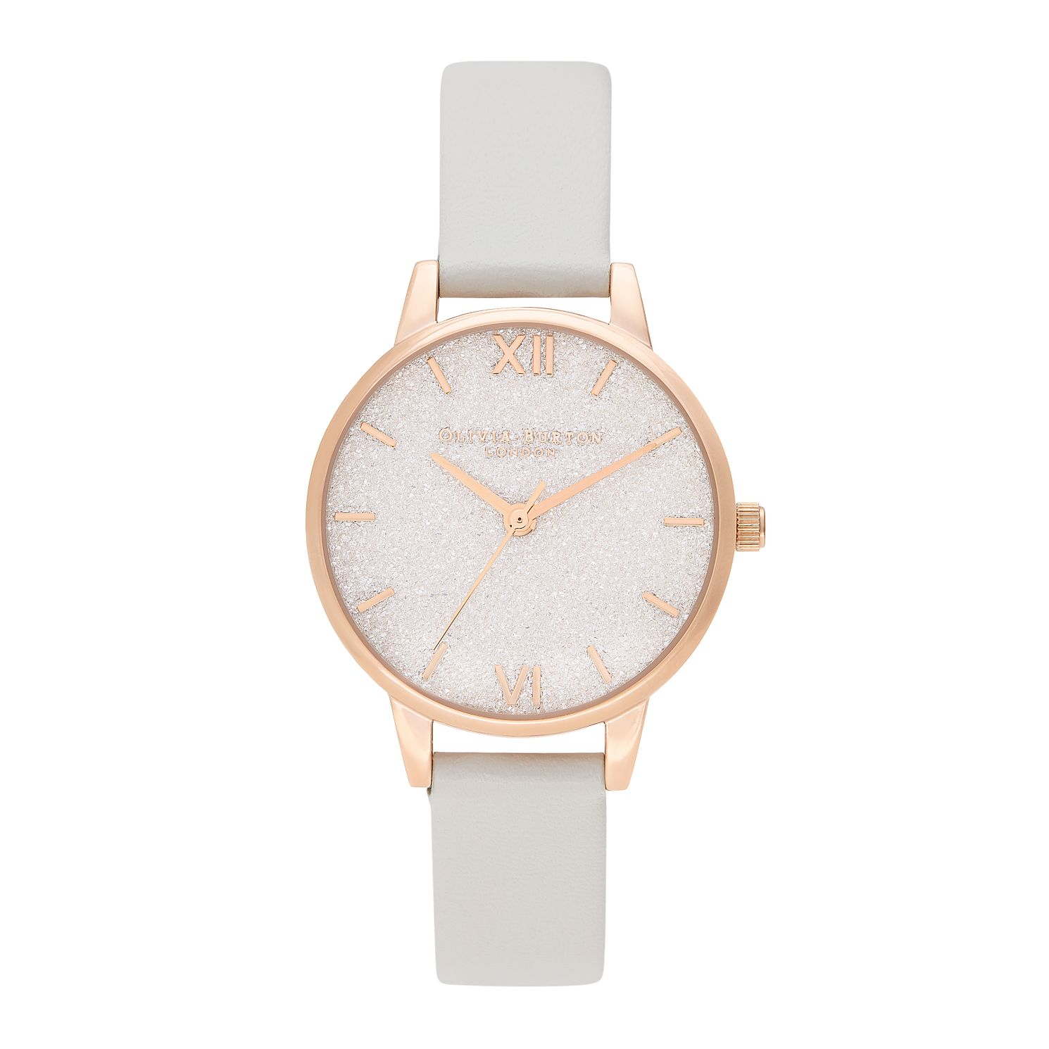 Olivia Burton Glitter Bee Ladies' Pink Vegan Strap Watch - Product number 2581728