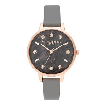 Olivia Burton Celestial Ladies' Grey Vegan Strap Watch - Product number 2581744