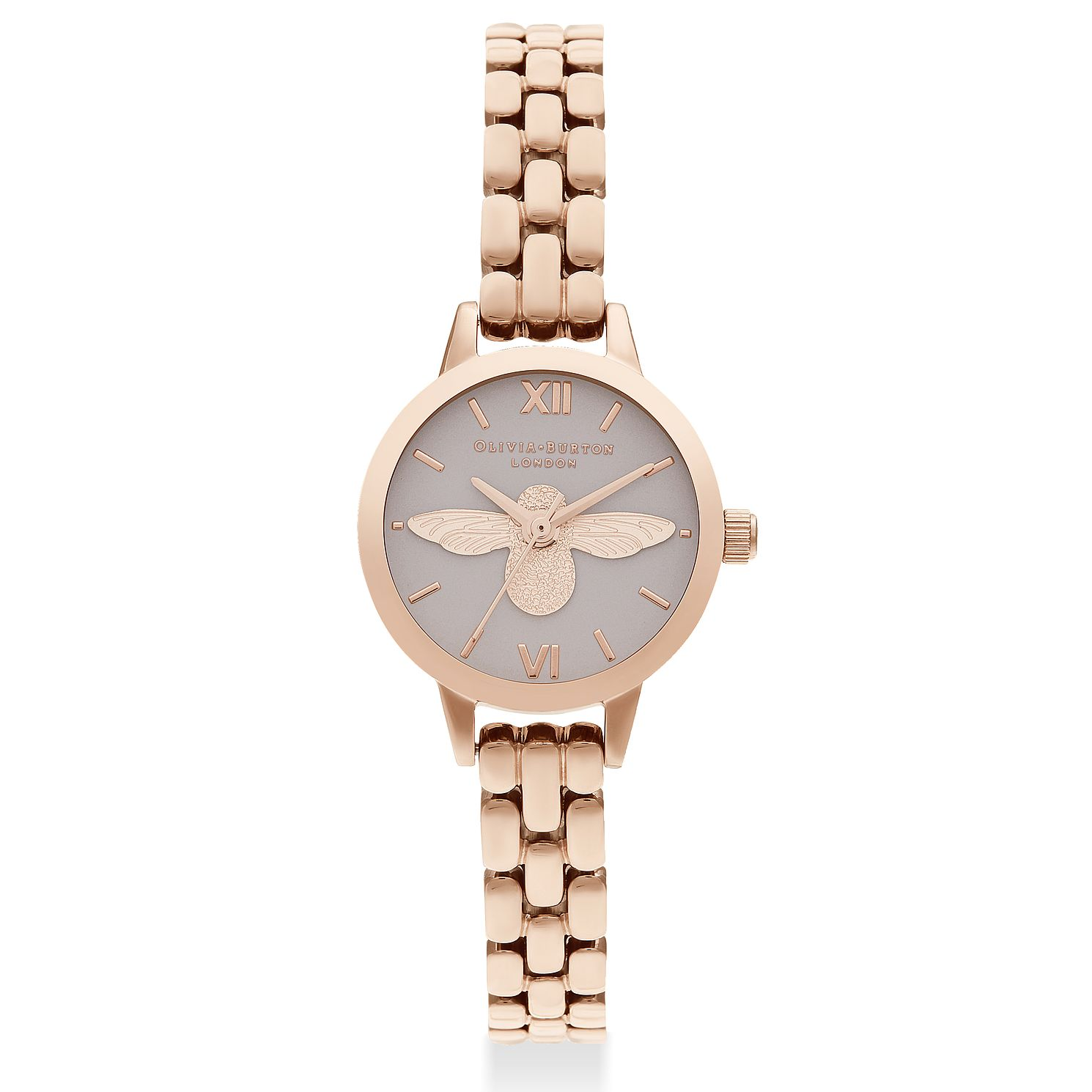 Olivia Burton 3D Bee Ladies' Rose Gold Tone Bracelet Watch - Product number 2581752