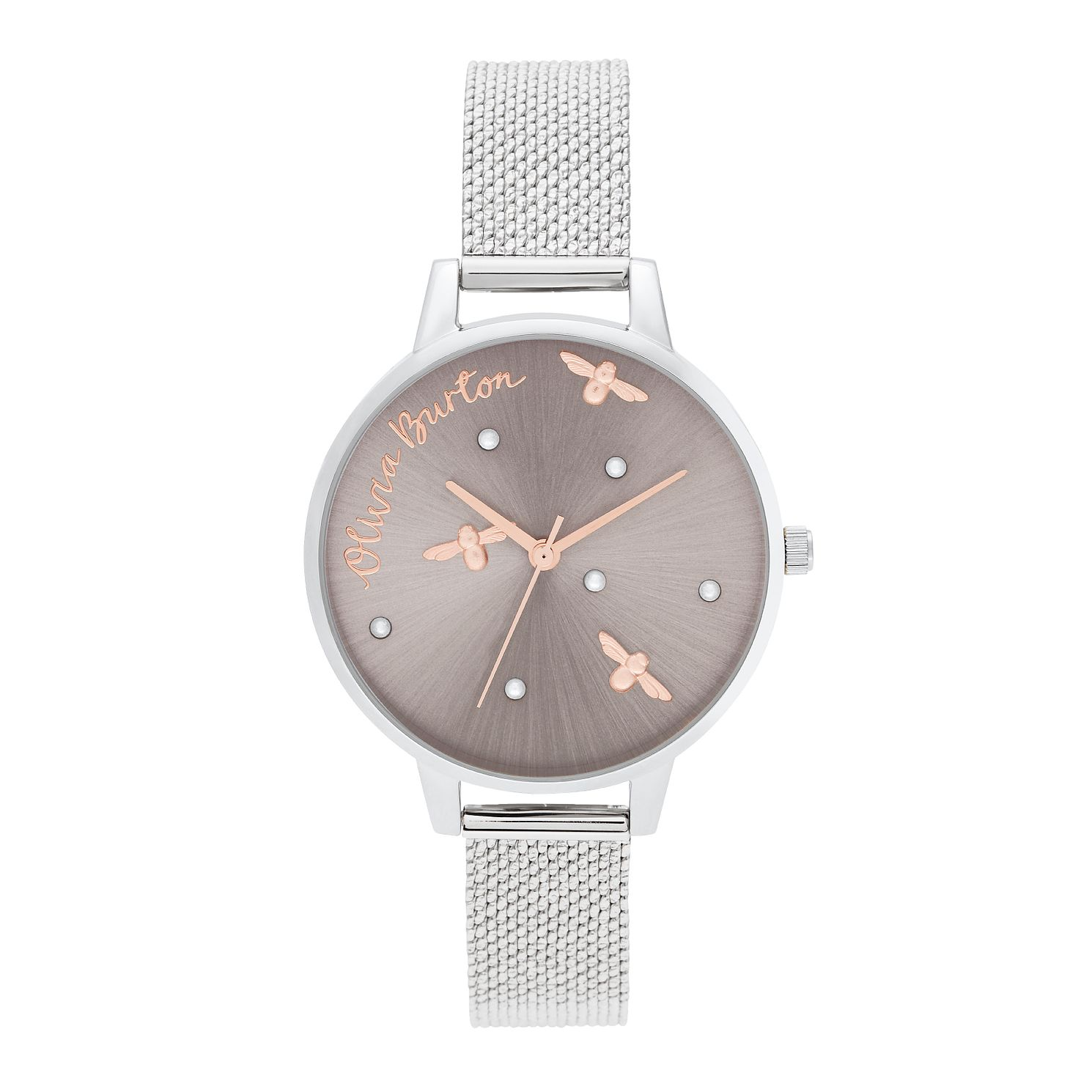 Olivia Burton Pearly Queen Stainless Steel Bracelet Watch - Product number 2581779