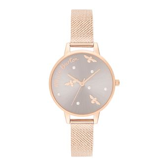 Olivia Burton Pearly Queen Rose Gold Tone Bracelet Watch - Product number 2581825