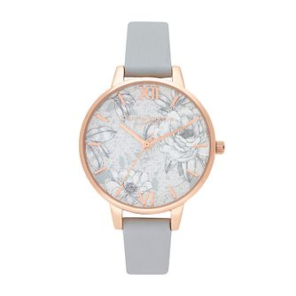 Olivia Burton Terrazzo Ladies' Eco-Friendly Grey Strap Watch - Product number 2581833