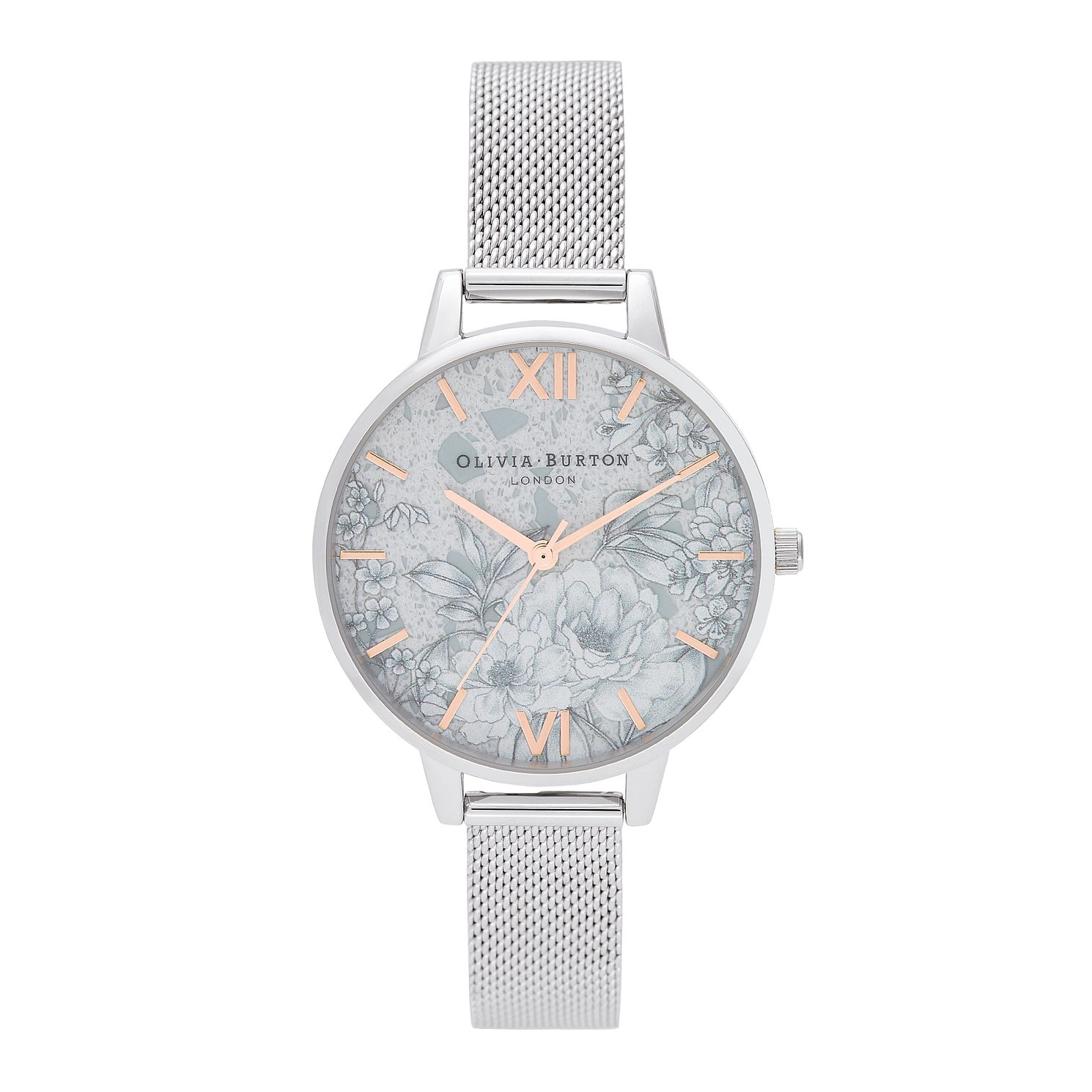 Olivia Burton Terrazzo Stainless Steel Mesh Bracelet Watch - Product number 2581841