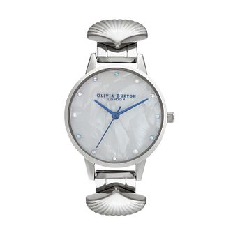 Olivia Burton Mermaid Stainless Steel Shell Bracelet Watch - Product number 2581868