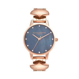 Olivia Burton Mermaid Rose Gold Tone Shell Bracelet Watch - Product number 2581876
