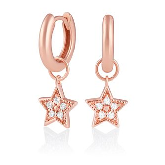 Olivia Burton Rose Gold Plated Silver Star Huggie Earrings - Product number 2582120
