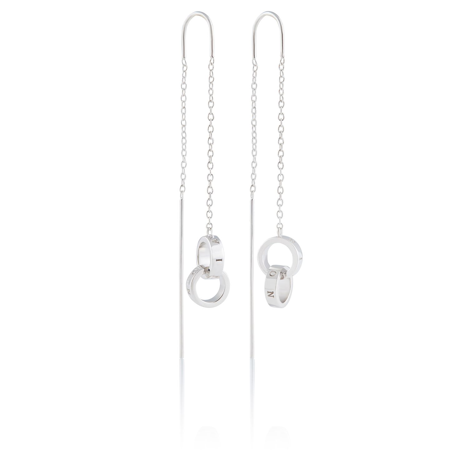 Olivia Burton Interlink Silver Threader Earrings - Product number 2582228