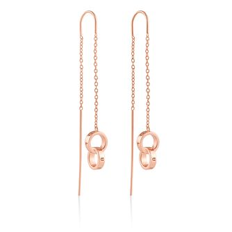 Olivia Burton Interlink Rose Gold Tone Threader Earrings - Product number 2582236