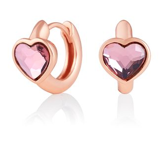 Olivia Burton Pink Heart Rose Gold Tone Huggie Earrings - Product number 2582260