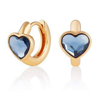 Olivia Burton Blue Heart Gold Tone Huggie Earrings - Product number 2582279