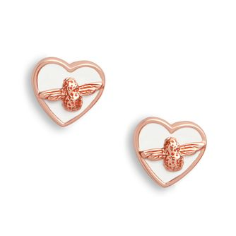 Olivia Burton Love Bug Rose Gold Tone Stud Earrings - Product number 2582295