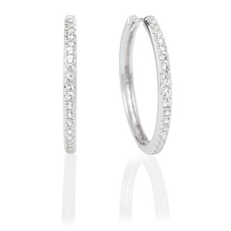 Olivia Burton Silver & Cubic Zirconia Hoop Earrings - Product number 2582309