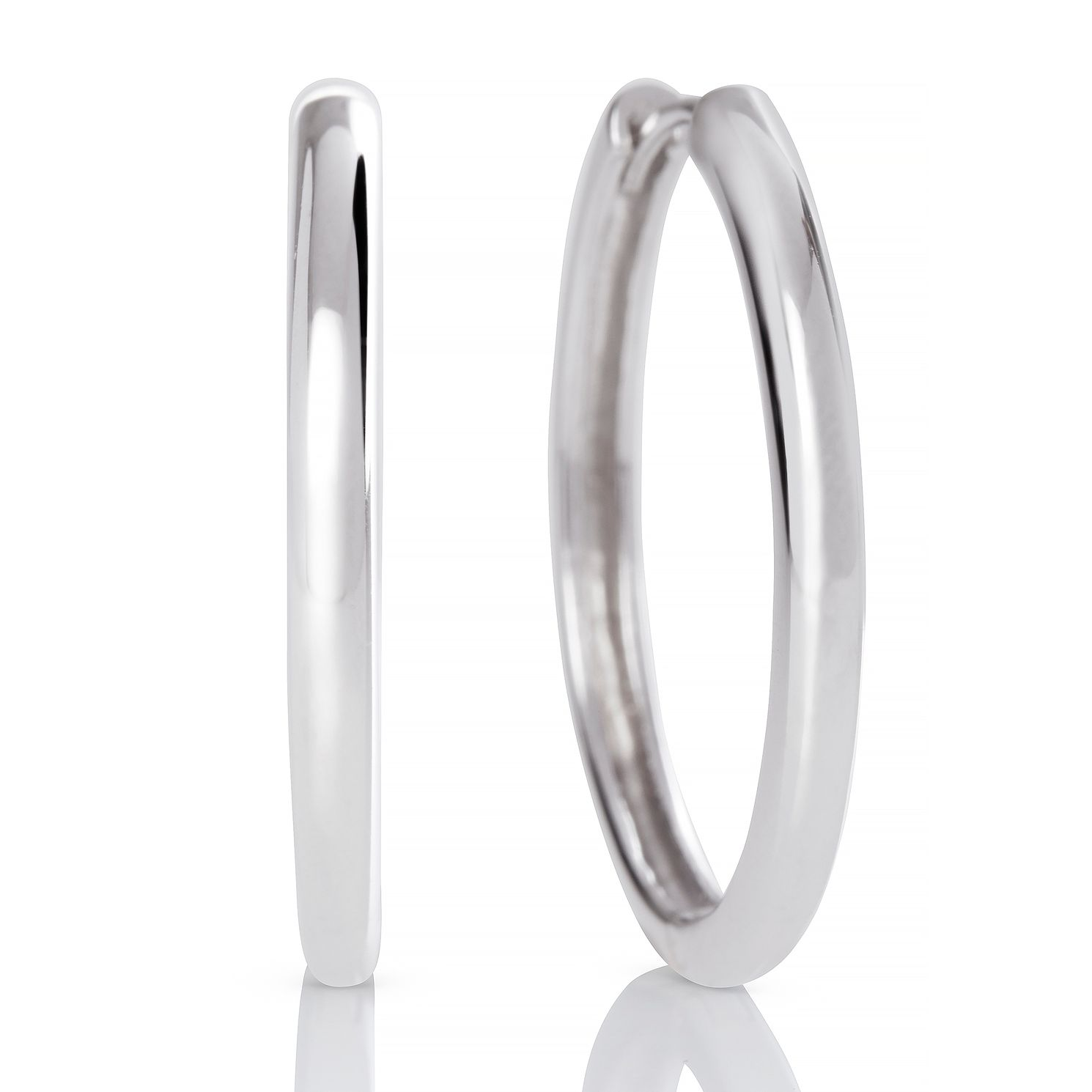 Olivia Burton Silver 24mm Huggie Hoop Earrings - Product number 2582333