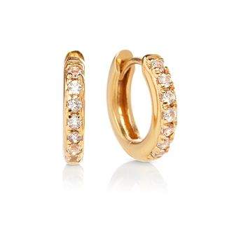 Olivia Burton Yellow Gold Tone Topaz Huggie Hoop Earrings - Product number 2582384