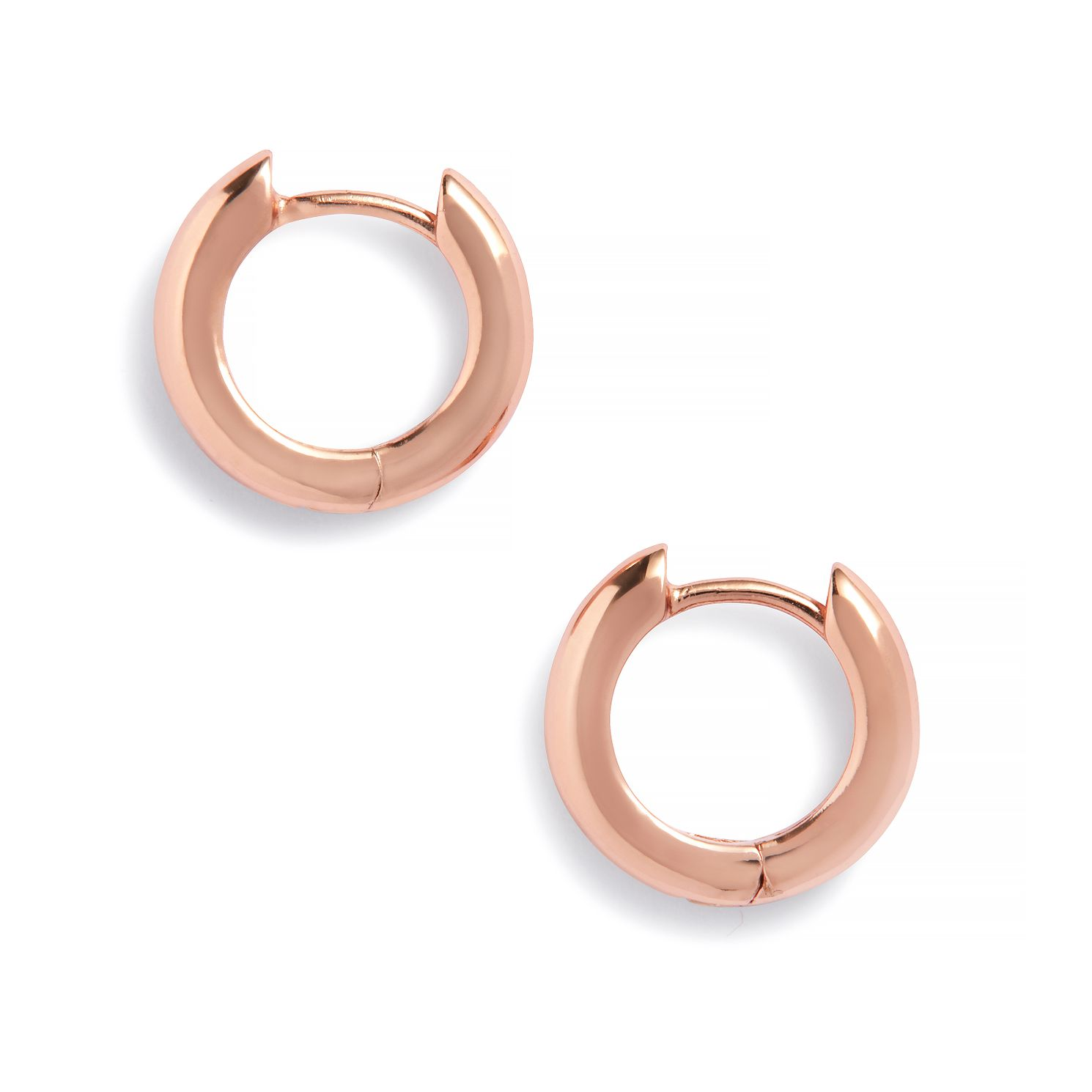 Olivia Burton Rose Gold Plated Silver 10mm Huggie Earrings - Product number 2582430