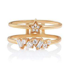Olivia Burton Celestial Gold Tone Double Band Ring - Size L - Product number 2582481